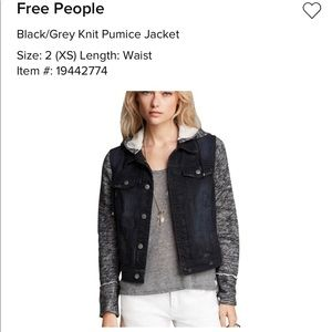 Free People Knit Pumice Jacket